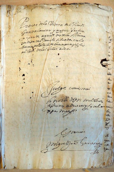 Document de l'expedient sobre la visura del Túria per Melcior Sisternes
